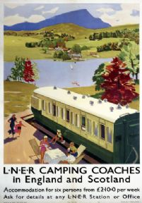 Vintage Travel Poster London and North Eastern Railway (LNER)